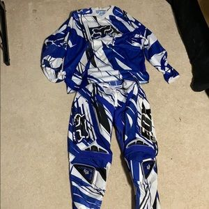 Fox Motocross Riding Gear pants and jersey